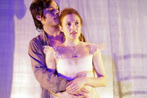 'BLOOD WEDDING' (Lorca, in a new version by Tanya Ronder   director: Rufus Norris),Gael Garcia Bernal (Leonardo), Lyndsey Marshal (Wife),Almeida Theatre, London N1                  12/05/2005,