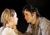 'BLOOD WEDDING' (Lorca, in a new version by Tanya Ronder   director: Rufus Norris),Thekla Reuten (Bride), Gael Garcia Bernal (Leonardo),Almeida Theatre, London N1                  12/05/2005,