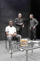 'BLUE/ORANGE' (Penhall - director: Kathy Burke),l-r: Jimmy Akingbola (Christopher), Roger Lloyd Pack (Robert), Shaun Evans (Bruce),Crucible Theatre / Sheffield, England    08/02/2005,