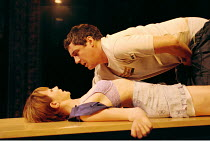 'THE BLUE ROOM' (Hare)~Camilla Power (The Au Pair), Michael Higgs (The Student)~Theatre Royal Haymarket, London  02/10/2000