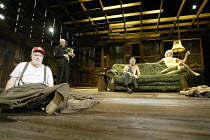 'BURIED CHILD' (Sam Shephard - director: Matthew Warchus) l-r: M. Emmet Walsh (Dodge), John Rogan (Father Dewis), Sean Murray (Bradley), Elizabeth Franz (Halie) Lyttelton Theatre / National Theatre,...