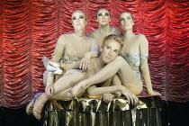 'C'EST BARBICAN!' ('Duckie' - directed by Mark Whitelaw)  front: Christopher Green   rear, l-r: Ursula Martinez, Marisa Carnesky, Miss High Leg Kick Pit Theatre / Barbican Centre, London EC2...