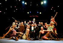 'CABARET' (Kander/Masteroff/Ebb)~the company with (centre, standing) Julian Bleach (Emcee)~Chichester Festival Theatre, West Sussex, England                 31/07/2002