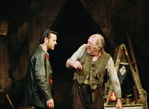 THE CARETAKER  by Harold Pinter design: Rob Howell lighting: Hugh Vanstone director: Patrick Marber ~~l-r: Rupert Graves (Mick), Michael Gambon (Davies)~Comedy Theatre, London SW1 15/11/2000 ~(c) Dona...