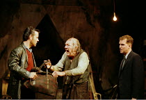 THE CARETAKER  by Harold Pinter design: Rob Howell lighting: Hugh Vanstone director: Patrick Marber ~~l-r: Rupert Graves (Mick), Michael Gambon (Davies), Douglas Hodge (Aston)~Comedy Theatre, London S...