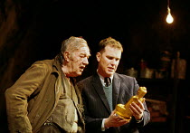 THE CARETAKER  by Harold Pinter design: Rob Howell lighting: Hugh Vanstone director: Patrick Marber ~~l-r: Michael Gambon (Davies), Douglas Hodge (Aston)~Comedy Theatre, London SW1 15/11/2000 ~(c) Don...