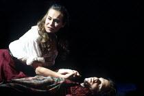 'CAROUSEL' (Rodgers & Hammerstein)   (director: Nicholas Hytner   choreography: Kenneth MacMillan   design: Bob Crowley)~Joanna Riding (Julie Jordan), Michael Hayden (Billie Bigelow)~Olivier Theatre,...