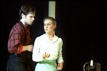'CAROUSEL' (Rodgers & Hammerstein)   (director: Nicholas Hytner   choreography: Kenneth MacMillan   design: Bob Crowley)~Michael Hayden (Billie Bigelow), Joanna Riding (Julie Jordan)~Olivier Theatre,...