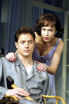 CAT ON A HOT TIN ROOF  by Tennessee Williams  design: Maria Bjornson  lighting: Howard Harrison  director: Anthony Page ~Brendan Fraser (Brick), Frances O'Connor (Margaret)~Lyric Theatre, London W1  1...