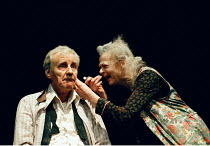 'THE CHAIRS'~Richard Briers (Old Man), Geraldine McEwan (Old Woman)~Royal Court, Duke of York's, London WC2  24/11/1997
