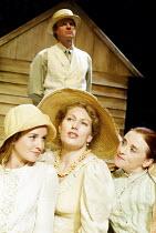 'THE CHERRY ORCHARD' (Chekhov - director: Dominic Dromgoole)~l-r: Jemma Powell (Anya), Geraldine James (Lyubov Ranevskaya), Mairead McKinley (Varya) ~with (rear) Trevor Fox (Yermolai Lopakhin)~Oxford...