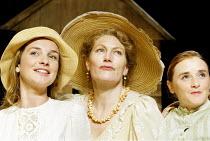 'THE CHERRY ORCHARD' (Chekhov - director: Dominic Dromgoole)~l-r: Jemma Powell (Anya), Geraldine James (Lyubov Ranevskaya), Mairead McKinley (Varya)~Oxford Stage Company / Riverside Studios, London W6...