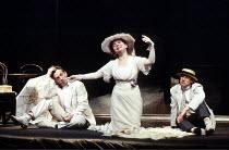 'THE CHERRY ORCHARD' (Chekhov)~l-r: Igor Ivanov (Lopakhine Ermolai Alekseevitch), Tatiana Chestakova (Lioubov Petrovna Ranievskaia), Sergei Bekhterev (Gaev Leonide Andreevitch)~Maly Theatre of St Pete...