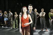 'A CHORUS LINE' (Bennett/Kirkwood/Dante/Hamlisch/Kleban - director: Nikolai Foster)~front centre: Josefina Gabrielle (Cassie), Jason Durr (Zach)~Crucible Theatre, Sheffield   England    02/12/2003