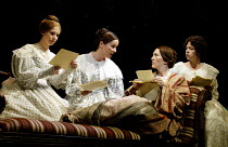 THE COAST OF UTOPIA - VOYAGE  by Tom Stoppard  design: William Dudley  lighting: David Hersey  director: Trevor Nunn ~l-r: Lucy Whybrow (Tatiana), Charlotte Emmerson (Varenka), Eve Best (Liubov), Anna...