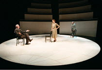 'COPENHAGEN' (Michael Frayn)~l-r: David Burke (Neils Bohr), Sara Kestelman (Margrethe Bohr), Matthew Marsh (Werner Heisenberger)~RNT / Cottesloe Theatre  28/05/1998, transfers to Duchess Theatre  08/0...