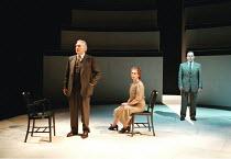'COPENHAGEN' (Michael Frayn)~l-r: David Burke (Neils Bohr), Sara Kestelman (Margrethe Bohr), Matthew Marsh (Werner Heisenberger)~RNT / Cottesloe Theatre  28/05/1998 ~(c) Donald Cooper/Photostage   pho...