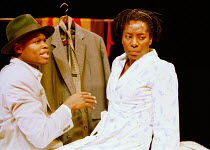 'LE COSTUME' (Can Themba)  directed by Peter Brook~Hubert Kound (Philemon), Tanya Moodie (Matilda), with 'le costume'~LIFT/Young Vic Theatre, London SE1  25/01/2001