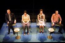'CRAVE' (Kane)~l-r: Alan Williams, Eileen Walsh, Ingrid Craigie, Andrew Scott~Royal Court/Jerwood Theatre Downstairs  London SW1  11/05/2001