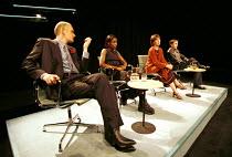 'CRAVE' (Kane)~l-r: Alan Williams, Sharon Duncan-Brewster, Ingrid Craigie, Paul Thomas Hickey~Traverse Theatre, Edinburgh 08/1998