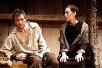 'THE CRUCIBLE' (Miller)~Mark McManus (John Proctor), Lynn Farleigh (Goodwife Elizabeth Proctor)~National Theatre production/Comedy Theatre, London SW1         03/1981