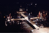 THE CRUCIBLE   by Arthur Miller   design: Bob Crowley   lighting: Michael Calf   directors: Barry Kyle & Nick Hamm ~centre: Paul Webster (Reverend Samuel Parris)~Royal Shakespeare Company (RSC), NatWe...