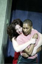 'CRUEL AND TENDER' (Martin Crimp / based on 'Trachiniae' by Sophocles - director: Luc Bondy)~l-r: Kerry Fox (Amelia), Georgina Ackerman (Laeia)~The Young Vic, London SE1                    13/05/2004