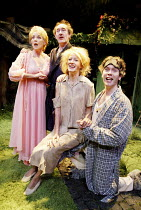'DREAMS FROM A SUMMER HOUSE' (book & lyrics: Alan Ayckbourn   music: John Pattison) l-r: Elizabeth Counsell (Chrissie), Nick Lumley (Grayson), Annette McLaughlin (Amanda), Giles Taylor (Sinclair) Th...