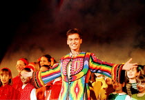 Phillip Schofield (as Joseph) in JOSEPH AND THE AMAZING TECHNICOLOR DREAMCOAT music by Andrew Lloyd Webber lyrics by Tim Rice at Labatt's Apollo Hammersmith London W6 27/02/1996.~Directed by Steven Pi...