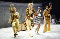 'JUST SO' (after Rudyard Kipling   music: George Stiles   book. lyrics. direction: Anthony Drewe) l-r: Simon Greiff (Leopard), Alexis Owen-Hobbs (Giraffe), Akiya Henry (Zebra), Dean Hussain (Jaguar)...