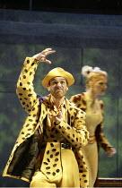 'JUST SO' (after Rudyard Kipling   music: George Stiles   book. lyrics. direction: Anthony Drewe) Simon Greiff (Leopard) with Alexis Owen-Hobbs (Giraffe) Chichester Festival Theatre / West Sussex, E...