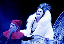 THE LION, THE WITCH AND THE WARDROBE  by C.S.Lewis  dramatised by Adrian Mitchell  design: Anthony Ward  lighting: Mark Henderson  director: Adrian Noble ~Jon Kay (Grumpskin), Joanne Pearce (The White...