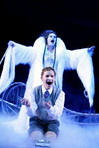 THE LION, THE WITCH AND THE WARDROBE  by C.S.Lewis  dramatised by Adrian Mitchell  design: Anthony Ward  lighting: Mark Henderson  director: Adrian Noble ~Joanne Pearce (The White Witch), Jean-Marc Pe...