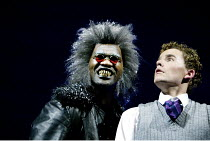 THE LION, THE WITCH AND THE WARDROBE  by C.S.Lewis  dramatised by Adrian Mitchell  design: Anthony Ward  lighting: Mark Henderson  director: Adrian Noble ~l-r: Chris Jarman (Maugrim), Jean-Marc Perret...