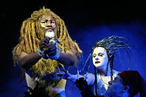 THE LION, THE WITCH AND THE WARDROBE  by C.S.Lewis  dramatised by Adrian Mitchell  design: Anthony Ward  lighting: Mark Henderson  director: Adrian Noble ~Patrice Naiambana (Aslan), Joanne Pearce (The...