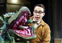 'LITTLE SHOP OF HORRORS' (Ashman/Menken)~Jeremy Finch (Seymour) with 'Audrey II'~West Yorkshire Playhouse / Leeds, England                     16/12/2002