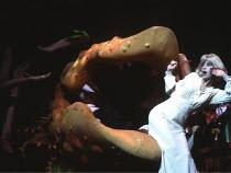 LITTLE SHOP OF HORRORS   music: Alan Menken   lyrics & direction: Howard Ashman,based on the film by Roger Corman,Ellen Greene (Audrey) with ^Audrey II^,Comedy Theatre / London SW1                  12...