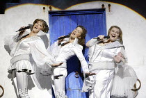 MAMMA MIA!  music & lyrics: Benny Andersson & Bjorn Ulvaeus  book: Catherine Johnson  design: Mark Thompson  lighting: Howard Harrison  choreography: Anthony van Laast  director: Phyllida Lloyd ~l-r:...