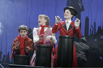 'MARY POPPINS' (based on the stories of P. L. Travers & the Walt Disney film   ,director: Richard Eyre  design: Bob Crowley    co-direction & choreography: Matthew Bourne),l-r: Harry Stott (Michael Ba...