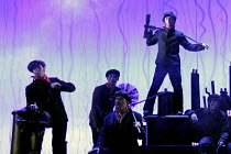 'MARY POPPINS' (based on the stories of P. L. Travers & the Walt Disney film   ,director: Richard Eyre  design: Bob Crowley    co-direction & choreography: Matthew Bourne),chimney-sweeps,Prince Edward...