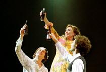 'MERRILY WE ROLL ALONG' (Sondheim)~l-r: Julian Ovenden, Samantha Spiro, Daniel Evans~Donmar Warehouse, London WC2  11/12/2000