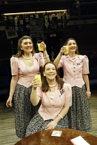'ME, MYSELF & I' (Alan Ayckbourn / Paul Todd - director: Kim Grant)~l-r: Stephanie Putson (I), Jacqui Charlesworth (Me), Jessica Martin (Myself)~Orange Tree, Richmond                           19/12/2...