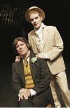 'OSCAR WILDE' (book/songs/direction: Mike Read),l-r: Peter Blake (Oscar Wilde), Jonathan Tatum (Lord Alfred Douglas/'Bosie'),Shaw Theatre, London NW1                   19/10/2004,