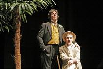 'OSCAR WILDE' (book/songs/direction: Mike Read),(standing) Peter Blake (Oscar Wilde), (seated) Jonathan Tatum (Lord Alfred Douglas/'Bosie'),Shaw Theatre, London NW1                   19/10/2004,