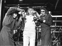 THE ROCKY HORROR SHOW   book, music & lyrics by Richard O'Brien   director: Jim Sharman,l-r: Richard O'Brien (Riff Raff), Rayner Bourton (Rocky Horror), Tim Curry (Frank-n-Furter),original production:...