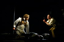 'SWEENEY TODD' (Sondheim)~l-r: Steven Page (Sweeney Todd), Christopher Saunders (Tobias Ragg)~Opera North/Leeds               25/04/2002