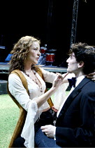 'TEETH 'N' SMILES' (Hare)~Amanda Donohoe (Maggie), Dominic Charles-Rouse (Anson)~Crucible Theatre, Sheffield   05/11/2002