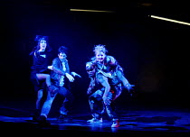 WE WILL ROCK YOU music & lyrics by Queen  story & script by Ben Elton  set design: Mark Fisher  costumes: Tim Goodchild  lighting: Willie Williams  musical staging: Arlene Phillips  directed by Christ...