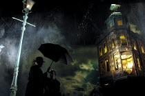'AN INSPECTOR CALLS' (JB Priestley)~Niall Buggy (Inspector Goole), Leila Hoffman (Edna) ~Playhouse Theatre, London WC2       27/09/2001