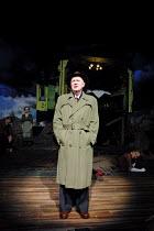 'AN INSPECTOR CALLS' (JB Priestley)~Niall Buggy (Inspector Goole) ~with (rear) Edward Peel (Mr Birling), Leila Hoffman (Edna), Diane Fletcher (Mrs Birling)~Playhouse Theatre, London WC2       27/09/20...